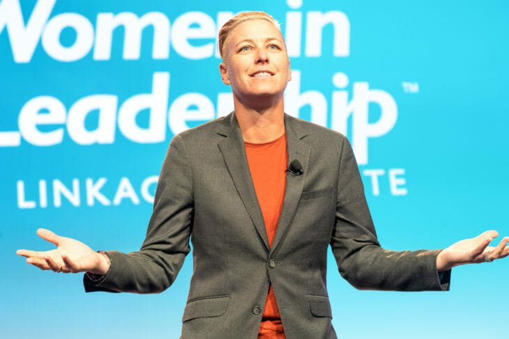Abby Wambach speaks at Women in Leadership conference